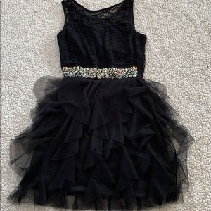 Black Tulle and Lace Dress Size Medium